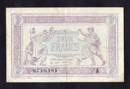 Trésorerie Aux Armées- 2 Francs -  Série A - Beau TTB - Cote = 130€ - Schatkamer