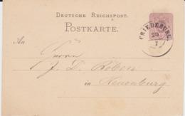 Hannover Nv K2 Friedeburg Ostfriesland Ganzsache DR P 5 1876 - Hannover