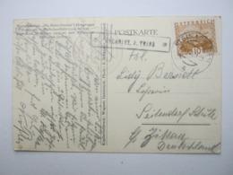 1931 , GSCHNITZ ,P.   TRINS, Klarer Stempel Auf Karte - Briefe U. Dokumente