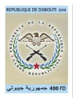 Djibouti 2018, Djibouti Republican Guard, 1val IMPERFORATED - Police - Gendarmerie