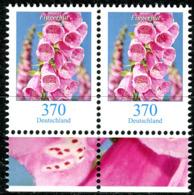 BRD - Mi 3501 Paar - ** Postfrisch (O) - 370/370C     Blumen, Fingerhut - Ausgabe 02.11.2019 - BRD