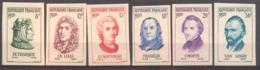 Série Personnages Célèbres étrangers YT 1082 à 1087 De 1956 Sans Trace Charnière - France