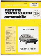 """REVUE TECHNIQUE AUTOMOBILE PEUGEOT """" 505 GR """" - """" 505 SR """" - Auto"""
