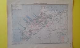 MAROC ÉCONOMIQUE CARTE 1930 - Carte Geographique
