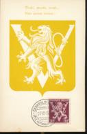 BELGIUM  1944 ISSUE  LION OF THE VICTORY  MC - Maximum Cards