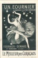 Curaçao FOURNIER à La Fine Champagne Illustré Par CAPPIELLO 1911 - Saint-Amand (CHER) 24 X 15 Cm Parfait état - Liquore & Birra