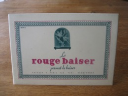 """Ancien Glaçoïde Publicitaire Original (années 50)  """"LE ROUGE BAISER"""" - Rouge à Lèvres Créé Par Paul BAUDECROUX - Parfums & Beauté"""