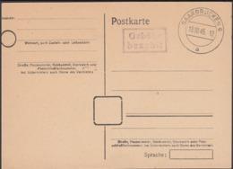 Germany 1945 - French Zone Stationery, GA-Postkarte 'Gebühr Bezahlt', Saarbrücken 13.10.1945. - Zone Française