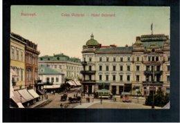 ROMANIA Bucuresti - Calea Victoriei Hotel Bulevard Tram Ca 1915 Old Postcard - Romania