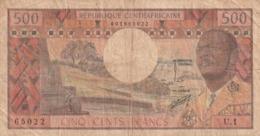 Republique Centrafricaine 500 Francs N° 1 World  En L 'état - Centraal-Afrikaanse Republiek