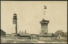 HELGOLAND Ca. 1915/20, BILD-PK MIT LEUCHTTURM UND SIGNALSTADION, UNGELAUFEN! - Helgoland