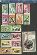 EXHEBITION BUILDING MACHINES MOSCOW 1964 USSR URSS SOUVENIR Matchbox Labels - Matchbox Labels