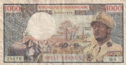 Republique Centrafricaine 1000 Francs N° 2 World  En L 'état - Centraal-Afrikaanse Republiek