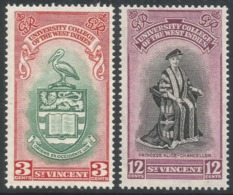 St Vincent. 1951 Inauguration Of BWI University College. MH Complete Set. SG 182-183 - St.Vincent (...-1979)