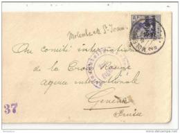 230 - 42 - Enveloppe Envoyée De Belgique En Suisse - 1ère Guerre Mondiale - Timbre Allemand Surchargé - WW I