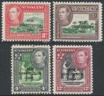 St Vincent. 1951 New Constitution. MH Complete Set. SG 184-187 - St.Vincent (...-1979)