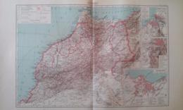 CARTE Du MAROC Et Plans De CASABLANCA FEZ RABAT-SALÉ 1930 - Carte Geographique
