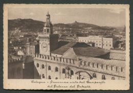 BOLOGNA - PANORAMA VISTA DAL CAMPANILE DEL PALAZZO DEL PODESTA - VIAGGIATA CON AFFRANCATURA 1942 - ANGOLI ROVINATI - 006 - Bologna