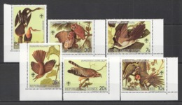 C447 !!! LAST ONE IN STOCK !!! GUINEA DE GUINEE FAUNA BIRDS 200TH ANNIVERSARY J.J.AUDUBON 1SET MNH - Birds