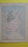 CARTE De La TUNISIE ÉCONOMIQUE 1930 - Carte Geographique