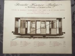 Affiche - Planche Train FRANCO BELGE DE MATERIEL DE CHEMINS DE FER Tram Tramways De Calais - Chemin De Fer