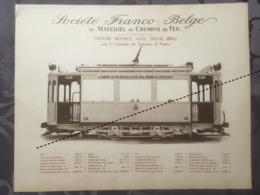 Affiche - Planche Train FRANCO BELGE DE MATERIEL DE CHEMINS DE FER Tram Tramways De Nantes France - Spoorweg