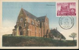 BELGIUM  1948 ISSUE COB 778 CHEVREMONT MC - Maximum Cards