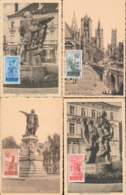 BELGIUM  1948 ISSUE COB 781/784 ANSEELE MC - Maximum Cards