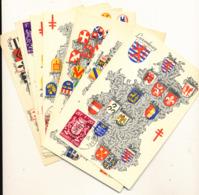 BELGIUM  1945 ISSUE ARMORIALS SET MC - Maximum Cards