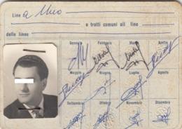 PALERMO /  TESSERA  DI ABBONAMENTO  - S.P.A. INDUSTRIA AUTOBUS _ Anno 1961 - Abonnements Hebdomadaires & Mensuels
