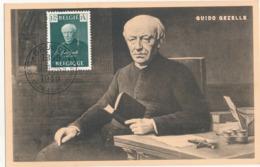 BELGIUM  1949 ISSUE COB 813 GUIDO GEZELLE MC - Maximum Cards