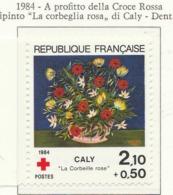 """PIA - FRA - 1984 : A Profitto Della Croce Rossa """"La Corbeglia Rosa"""" Opera Di Caly - (Yv 2345) - Primo Soccorso"""