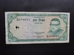 BANGLADESH : 10 TAKA    ND 1973     P 14a      AB - Bangladesh