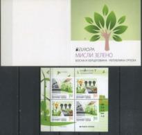 Bosnia And Herzegovina, Srpska 2016 Europa CEPT, Think Green, Ecology Booklet - Europa-CEPT