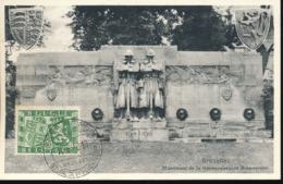 BELGIUM  1950 ISSUE COB 823 ARMORIALS UK BELGIUM MC - Maximum Cards