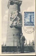 BELGIUM  1950 ISSUE COB 825 HERTAIN MC - Maximum Cards