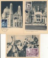BELGIUM  1952 ISSUE VAN ROEY SET COB 876/878 MC - Maximum Cards