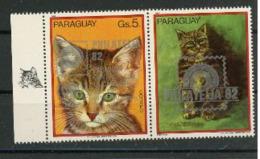 Paraguay 1982 IYC AIE Cat Chat ESSEN 82  Label Droit MNH - Sonstige