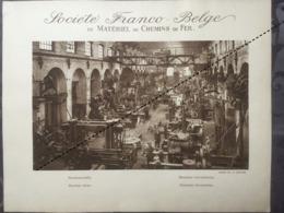 Affiche - Planche Train FRANCO BELGE DE MATERIEL DE CHEMINS DE FER Usine De La Croyère Machines Outils - Spoorweg