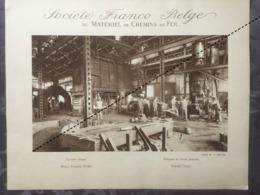 Affiche - Planche Train FRANCO BELGE DE MATERIEL DE CHEMINS DE FER Usine De La Croyère Forge - Spoorweg