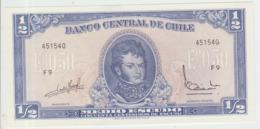 Chile 1/2 Pesos 1962-70 Pick 134A Serie F-9 UNC - Chili