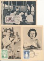 BELGIUM  1952 ISSUE UNESCO SET COB 842/844 MC - Maximum Cards