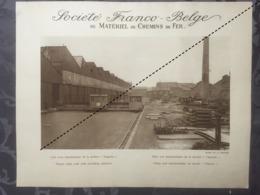 Affiche - Planche Train FRANCO BELGE DE MATERIEL DE CHEMINS DE FER Usine De La Croyère - Spoorweg