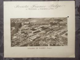 Affiche - Planche Train FRANCO BELGE DE MATERIEL DE CHEMINS DE FER Usine De Raismes - Spoorweg