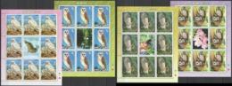 C473 !!! LAST ONE IN STOCK !!! 2006 KOREA FAUNA BIRDS OWL MICHEL 60 EURO 4KB MNH - Owls