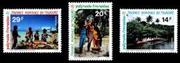 POLYNESIE 1993 - Yv. 440 441 Et 442 **   Faciale= 0,53 EUR - Journée Mondiale Du Tourisme (3 Val.)  ..Réf.POL24642 - Polynésie Française