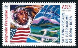 POLYNESIE 1993 - Yv. 431 **   Faciale= 1,01 EUR - Aérodrome De Bora-Bora  ..Réf.POL24635 - Polynésie Française