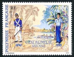POLYNESIE 1993 - Yv. 443 **   Faciale= 0,84 EUR - Gendarmes D'hier Et D'aujourd'hui  ..Réf.POL24643 - Polynésie Française