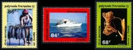 POLYNESIE 1993 - Yv. 428 429 Et 430 ** SUP  Faciale= 2,00 EUR - La Pêche Hauturière (3 Val.)  ..Réf.POL24634 - Polynésie Française