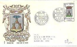 FDC ESPAÑA  1962   ALBACETE - Murciélagos